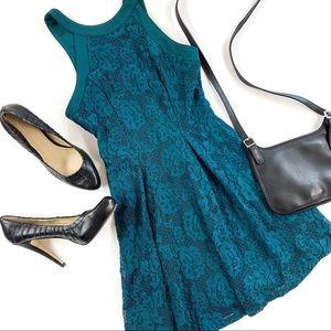 Speechless Lace Lined Tank Skater Dress, size XS